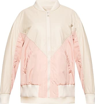 Yves Salomon Jacket With Leather Inserts Womens Cream