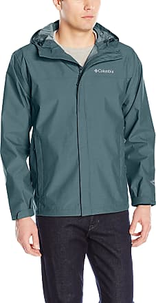 Columbia Mens Diablo Creek Rain Shell Raincoat, Mystery, Large