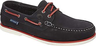 Quayside Unisex Adults Genoa Boat Shoes, (Navy Black), 6.5 (40 EU)