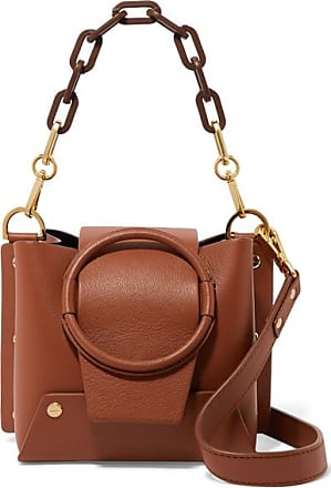 Yuzefi Delila Mini Textured-leather Shoulder Bag - Tan