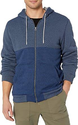 O'Neill Mens Sherpa Lined Full Zip Hooded Fleece Sweatshirt Jacket, Indigo/Lakota, Small