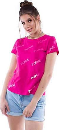 Pop Me Blusa Manga Curta Paetê Pop Me Pop Me-pink-gg