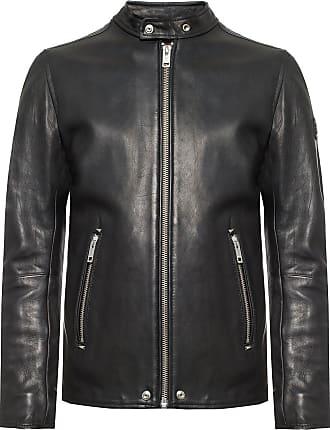 Diesel Leather Jacket Mens Black