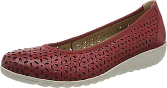 Caprice Womens Faby Ballet Flats, Red (Chili Nappa 521), 3.5 UK
