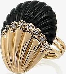 Yvonne Léon Womens 107 - Pink 18k Yellow Gold And Black Shell Diamond Ring