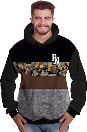 Di Nuevo Blusa de Moletom Camisa Militar StreetWear Camuflada Cinza