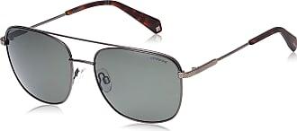 Polaroid Mens PLD 2057/S Sunglasses, Dark Ruthenium/Gn Green, 57