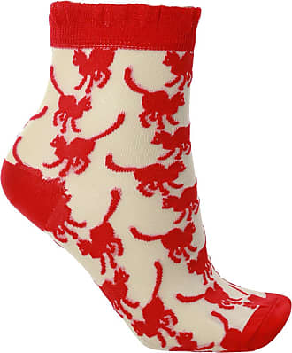 Undercover Patterned Socks Womens Red
