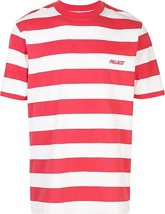 Palace Camiseta com listras - Vermelho