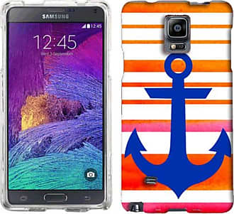 Mundaze Mundaze Sunset Orange Anchor Stripe Phone Case Cover for Samsung Galaxy Note 4