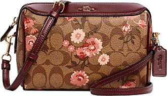 Coach bennett crossbody bag in signature canvas with prairie daisy cluster print