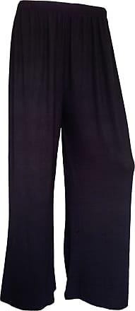 Momo & Ayat Fashions Ladies Jersey Lighhtweight Palazzo Wide Leg Trousers Pants UK Size 8-26 (Black, L/XL (UK 16-18))