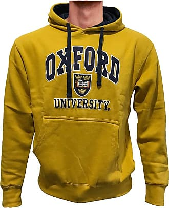 Oxford University Official Licensed Embroidered Hoodie Long Sleeve Unisex Mens Womens Pullover + One Free T-Shirt (XX-Large, Mustard Yellow)