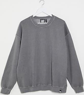 Reclaimed Vintage inspired oversized overdye sweatshirt in charcoal grey