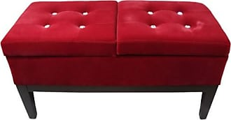 ORE Ore International Faux Leather Tufted Storage Bench