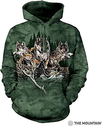 The Mountain Find 12 Wolves Adult Hoodie, Green, Large