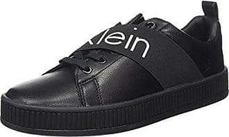 Calvin Klein Milton Nappa Smooth Elastic, Baskets Homme, Noir Black, 44 EU 1da69f5adc4