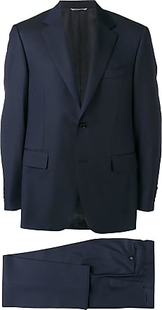 Canali micro-pattern suit - Blue