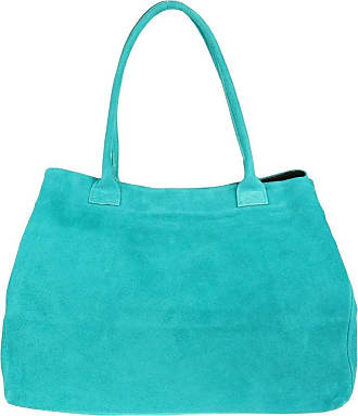 Girly HandBags Girly HandBags Expandable Italian Suede Leather Shoulder Bag (Turquoise)