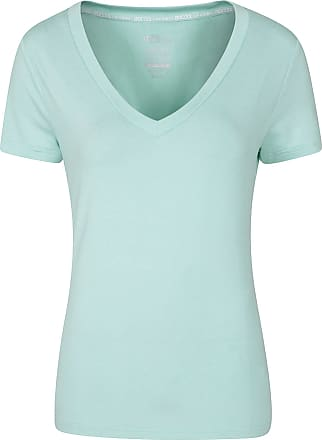 Mountain Warehouse Vitality Womens V Neck Tee - Lightweight Winter T-Shirt, Breathable, High Wicking, Easy Care Ladies Tee Shirt- Ideal for Travelling, Gym, Outdoors Min