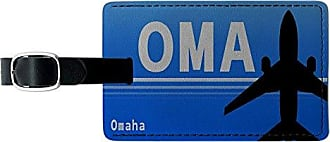 Graphics & More Graphics & More Omaha Ne (oma) Airport Code Leather Luggage Id Tag Suitcase Carry-on, Black