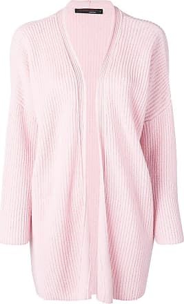 Incentive! Cashmere ribbed knit cardigan - Rosa