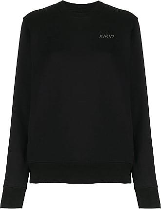 Kirin logo-print sweatshirt - Black
