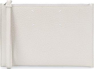 Maison Margiela four-stitch zip clutch - Branco