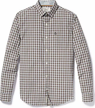 Original Penguin P55 Plaid Shirt Dark Shadow - cotton | large