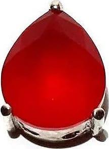 Boreale Joias Pingente Prata 925 Gota Color Zircônia Vermelha Fusion Joia