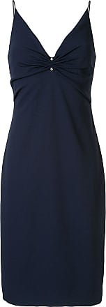 Dion Lee pierced slip dress - Blue