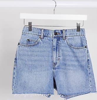 & Other Stories organic cotton cut off denim shorts in light wash-Blue