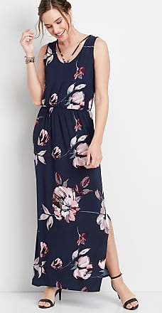 Maurices Strappy Neck Floral Maxi Dress