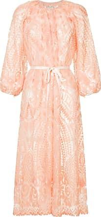 Huishan Zhang geometric pattern midi dress - Rosa