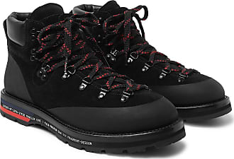 Moncler 7 Moncler Fragment Suede, Leather And Rubber Boots - Black