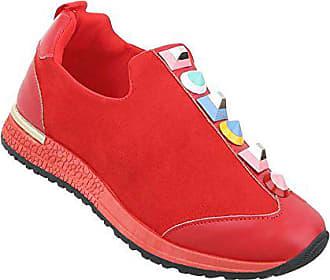 5c6e2385c90844 Schuhcity24 Damen Schuhe Freizeitschuhe Sneakers Rot 38