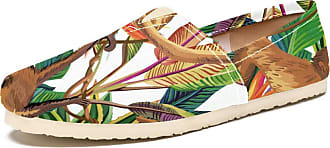 Tizorax Monkey in The Jungle Mens Slip on Loafers Shoes Casual Canvas Flat Boat Shoe