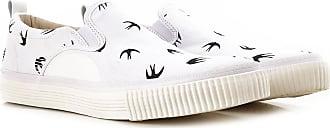 Alexander McQueen Slip on Sneakers for Men, White, Canvas, 2017, 11.5 8 9