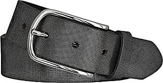 3587ffbf07d7db Vanzetti Damen Leder Gürtel Rindleder Damengürtel schwarz silbermetallic 35  mm (105 cm)