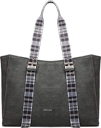 Quirk TARTAN STRAP SHOULDER BAG - GREY