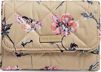 Vera Bradley Womens Performance Twill RFID Riley Compact Wallet, Strawflowers, One size