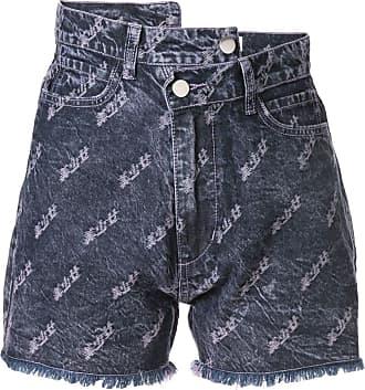 Ground-Zero Short jeans bordado - Roxo