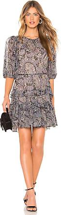 Rebecca Taylor Selene Paisley Dress in Blue