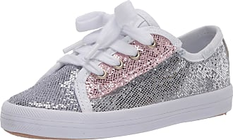 Keds Kids Girls Kickstart Seasonal Sneaker Jr, Color Block Sparkle, 8.5 M US Little Kid