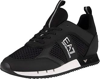 Emporio Armani Mesh Sneaker Trainers Black 11 UK