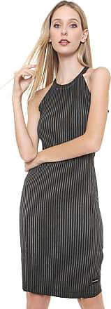 Calvin Klein Jeans Vestido Calvin Klein Jeans Curto Canelado Cinza/Preto