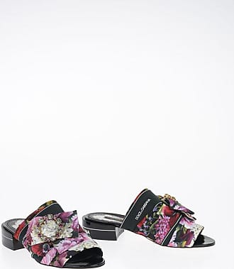 Dolce & Gabbana Floral Sandal with Jewel Detail Größe 37,5