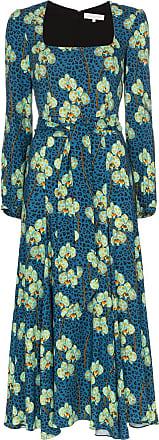 Borgo De Nor Vestido midi Annabella floral - Azul