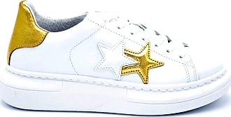 2Star sneaker donna con logo e dettaglio oro - 40 - bianco-oro