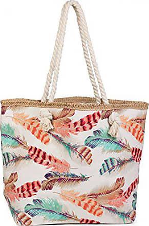 Damen 02012063 Shopper Schultertasche styleBREAKER Strandtasche mit Ethno Elefanten Muster und Rei/ßverschluss